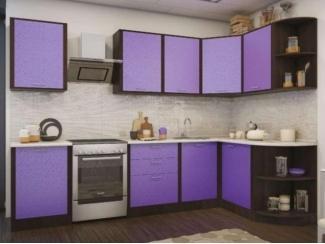 Фиолетовая угловая кухня  - Мебельная фабрика «Кухни Заречного»
