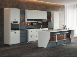 Современная кухня из шпона Айкон  - Мебельная фабрика «Атлас-Люкс»