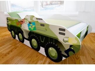 Кровать детская с матовой фотопечатью БТР - Мебельная фабрика «Мульто»