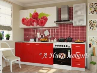 Красная кухня с фотопечатью Аника 1 - Мебельная фабрика «А-Ника», г. Ульяновск