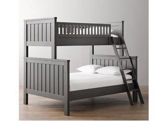 Двухъярусная кровать из массива бука для троих - Мебельная фабрика «Массив мастер», г. Екатеринбург