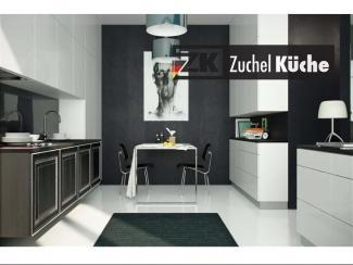 Кухонный гарнитур прямой Магдебург Блэк - Мебельная фабрика «Zuchel Kuche»