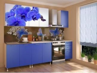 Кухня с фотопечатью Орхидея Синяя  - Изготовление мебели на заказ «Союз»