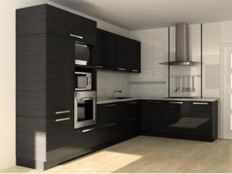 Черная угловая кухня  - Мебельная фабрика «Перспектива»