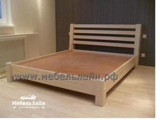 Простая кровать из натурального дерева - Мебельная фабрика «МебельЛайн»