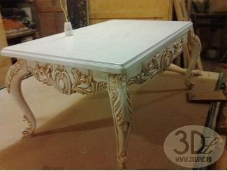 Прямоугольный стол с изогнутыми ножками - Изготовление мебели на заказ «3dluxe»