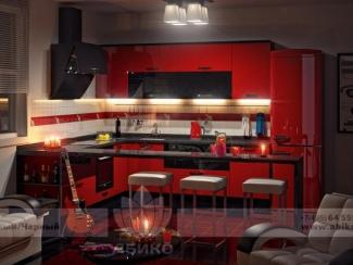 Кухня Драйв Красный/Черный - Мебельная фабрика «Абико»