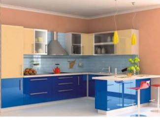 Кухонный гарнитур Бежево-лазурный - Мебельная фабрика «Московский мебельный альянс»
