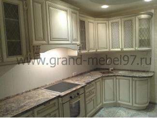Кухня патина 05 - Мебельная фабрика «Гранд Мебель»