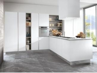 Белая кухня с островком  - Импортёр мебели «Riboni Group (Италия)», г. Москва