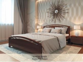Деревяная кровать Альба - Мебельная фабрика «Каприз»
