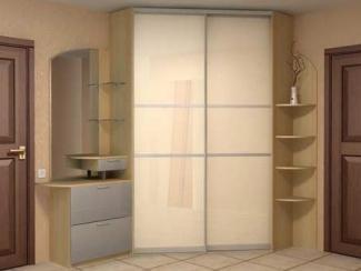 Прихожая прямая белое стекло - Изготовление мебели на заказ «Мега»