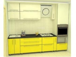 Яркая прямая кухня из пластика Энергия 6 - Мебельная фабрика «Аркадия-Мебель»
