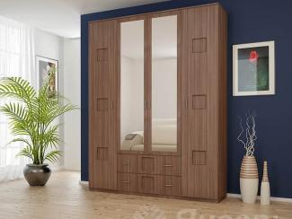 Шкаф 4-х дверный с зеркалом - Мебельная фабрика «Январь»