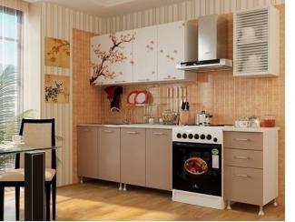 Кухня ЛДСП с фотопечатью Сакура - Мебельная фабрика «Альбина»
