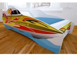 Кровать детская с матовой фотопечатью Катер - Мебельная фабрика «Мульто»