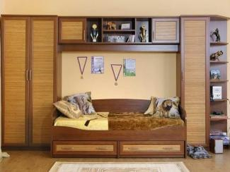 Стенка ЛДСП «Чемпион» с кроватью «Волна»