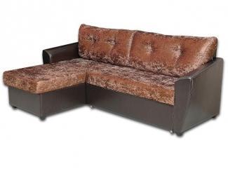 Коричневый диван с оттоманкой  - Мебельная фабрика «Магнолия», г. Богородск