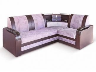 Угловой диван с баром  - Мебельная фабрика «Дуэт», г. Пенза
