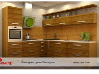 Кухня Зебрано шпон - Мебельная фабрика «Симкор»