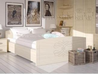 Высокая кровать в спальню Есения  - Мебельная фабрика «Армос», г. Иваново