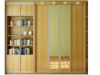 Большой встроенный шкаф-купе с зеркалом  - Мебельная фабрика «Перспектива»