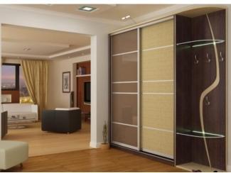 Прихожая  шкаф-купе с полками из стекла - Мебельная фабрика «SEDAK-Мебель»