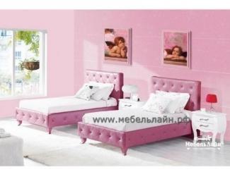 Одноместная кожаная кровать для ребенка Лаура - Мебельная фабрика «МебельЛайн»