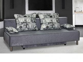 Серый прямой диван Лайм  - Мебельная фабрика «ФСМ Дарди», г. Ижевск