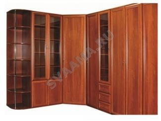 Угловой распашной шкаф с полочками - Мебельная фабрика «Сваама»
