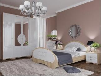Светлый спальный гарнитур Мариса - Мебельная фабрика «Орнамент»