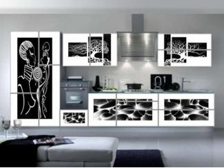 Черно-белая кухня Лати 2 - Мебельная фабрика «Мебель России»
