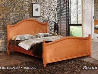 Кровать из дерева Вилия 2.1 - Мебельная фабрика «Альянс 21 век»