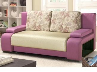 Небольшой розовый диван Дуэт евротахта - Мебельная фабрика «Аргос»