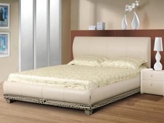 Кровать Люксор массив бука экокожа - Мебельная фабрика «Диамант-М»