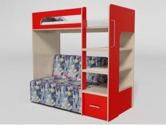 Кровать двухъярусная с диваном №10 - Мебельная фабрика «Элфис»