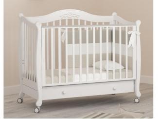 Детская кроватка на колесиках Гандылян Моника - Мебельная фабрика «Гандылян»