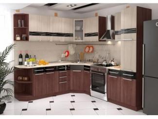 Коричневая кухня Капри - Мебельная фабрика «Гермес»