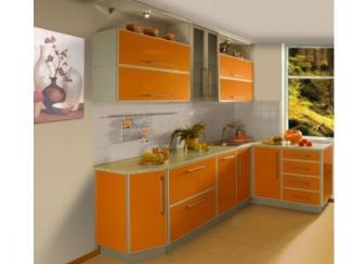 Угловая оранжевая Кухня - Мебельная фабрика «Династия»
