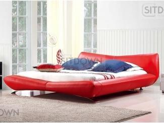 Красная кожаная кровать Фантазия  - Мебельная фабрика «Sitdown»