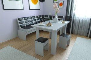 Кухонный уголок РЕПРИЗА Чёрный+белый - Мебельная фабрика «Делис-мебель»