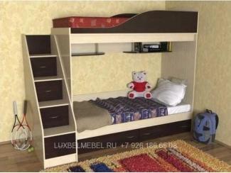 Удобная двухъярусная кровать 1485 - Мебельная фабрика «ЛюксБелМебель»