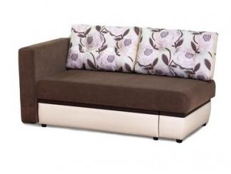 Коричневый диван с одним подлокотником Аруба