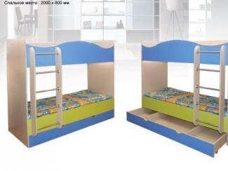 Кровать двухъярусная Радуга-2 - Мебельная фабрика «КМК (Красноярская мебельная компания)»