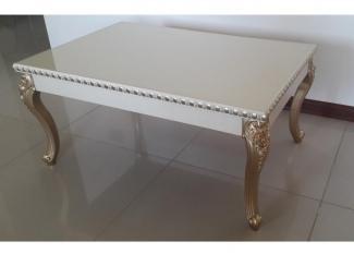Журнальный стол с резными ножками - Мебельная фабрика «Стекло Фан»