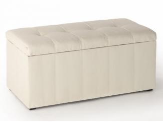 Пуф белый ПФ-3 - Мебельная фабрика «Вентал»