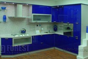 Угловая синяя кухня Шарлотта - Изготовление мебели на заказ «Форест»