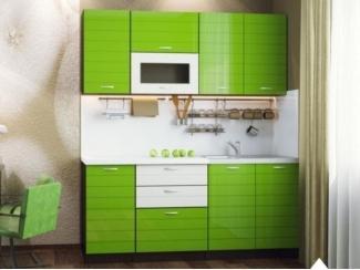Зеленая прямая кухня Капри - Мебельная фабрика «Северин»