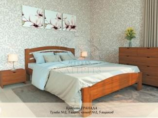 Удобная кровать Гранада из массива - Мебельная фабрика «Каприз»