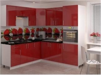 Красная угловая Кухня Гамма 9 - Мебельная фабрика «Баронс»